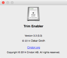 Version de Trim Enabler